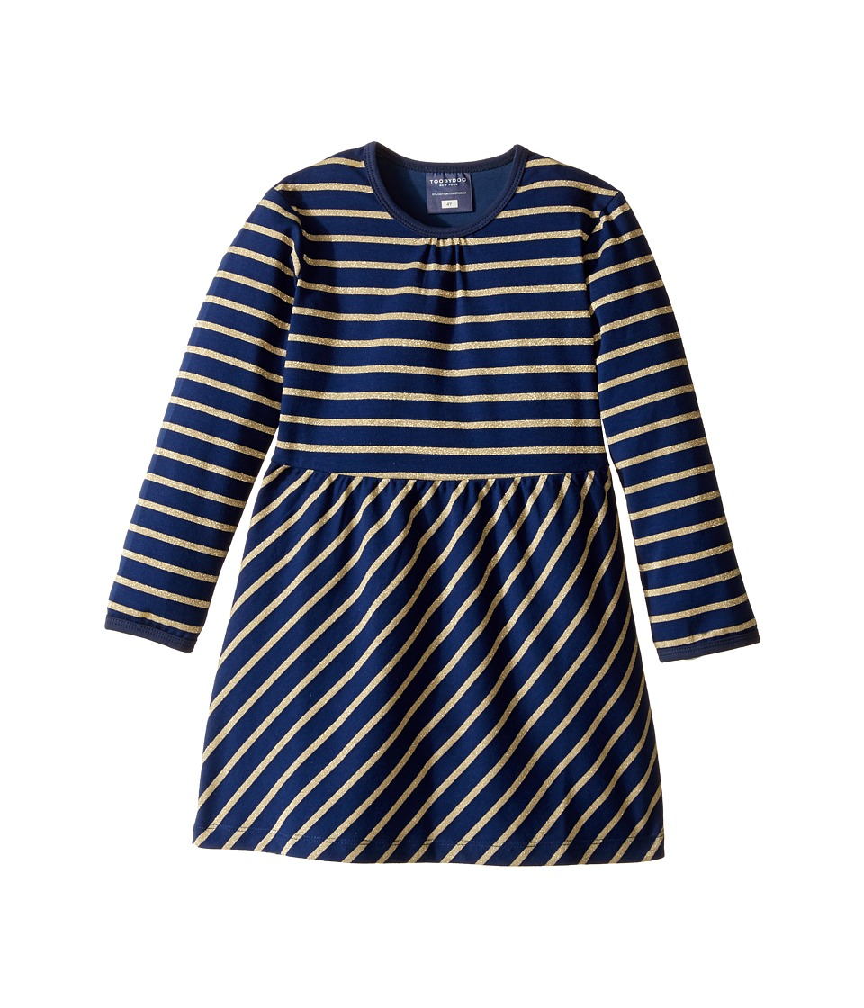 Toobydoo - Go For The Gold Party Dress (Infant/Toddler) (Navy/Gold) Girl's Dress