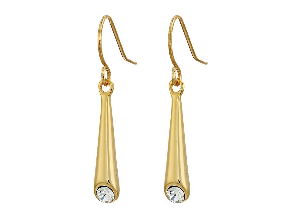LAUREN Ralph Lauren - Smooth Operator Medium Metal Cone Earrings (Gold/Crystal) Earring