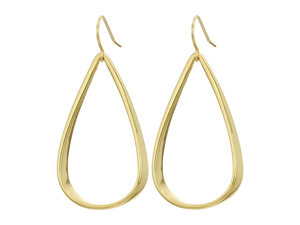 LAUREN Ralph Lauren - Smooth Operator Sculpted Metal Teardrop Earrings (Gold) Earring