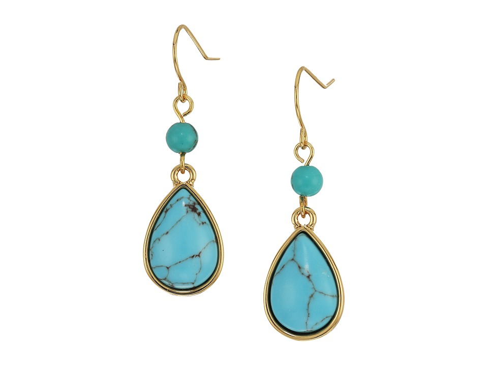 LAUREN Ralph Lauren - Paradise Found Small Turquoise Drop Earrings (Turquoise/Gold) Earring