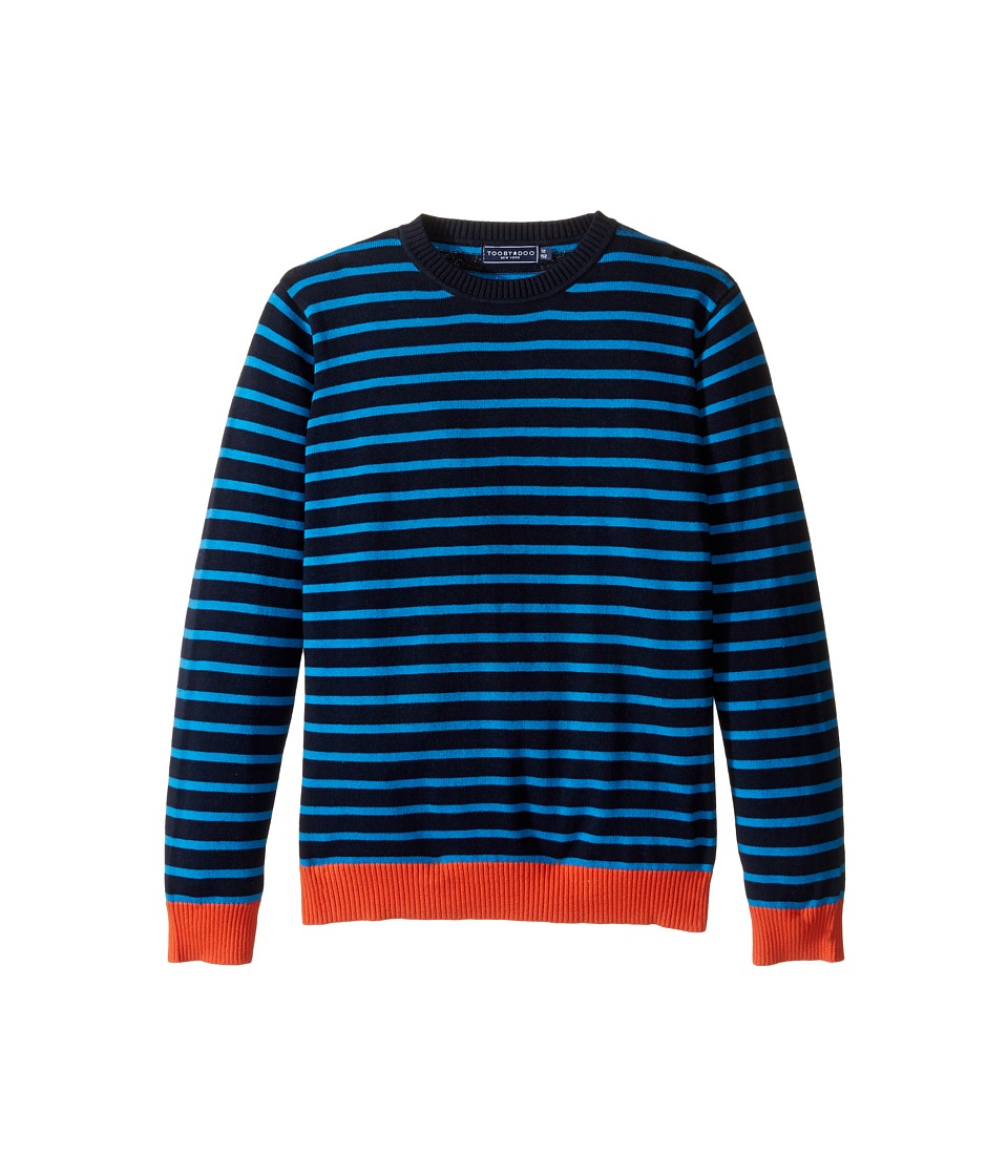 Toobydoo - Colin Crew Neck Sweater (Toddler/Little Kids/Big Kids) (Navy/Cobalt Blue/Orange) Boy's Sweater