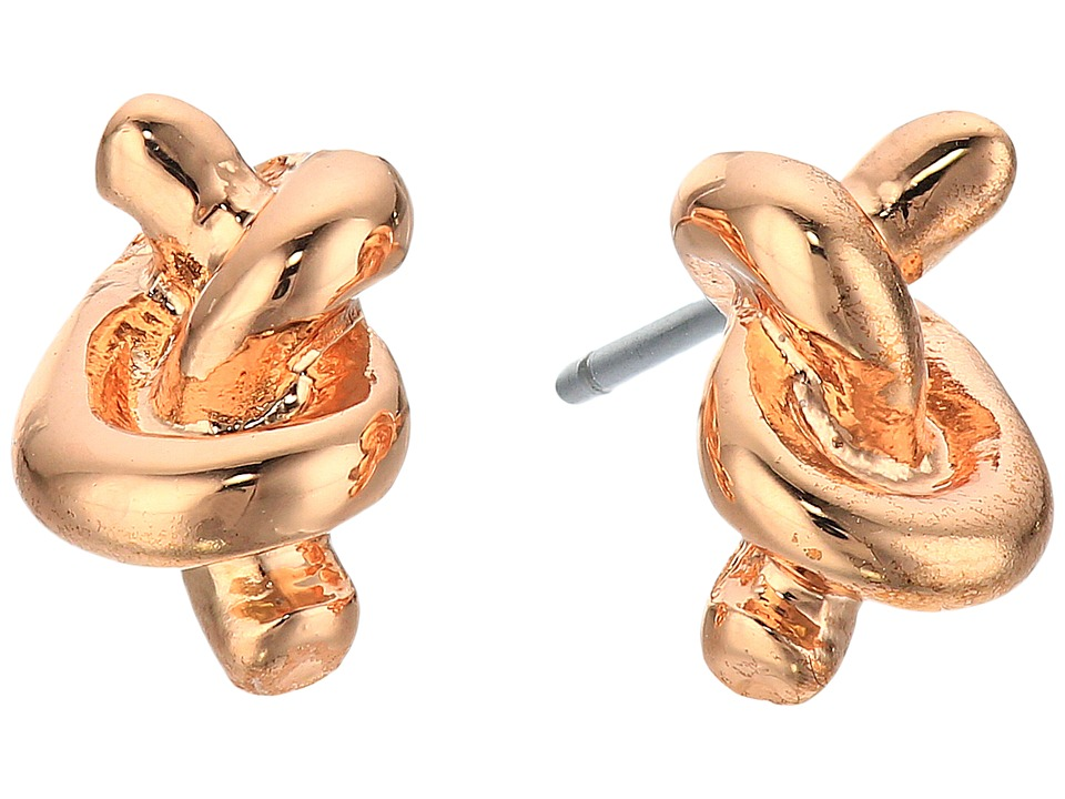 LAUREN Ralph Lauren - Rose Chic Metal Knot Studs (Rose Gold) Earring