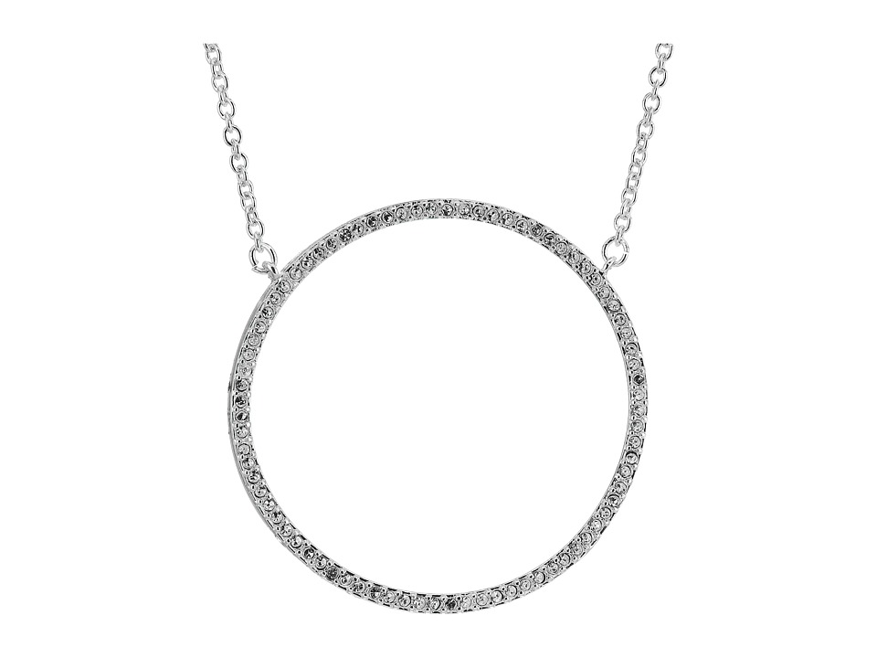 LAUREN Ralph Lauren - City Chic Silver Pave Ring Pendant Necklace (Silver/Crystal) Necklace