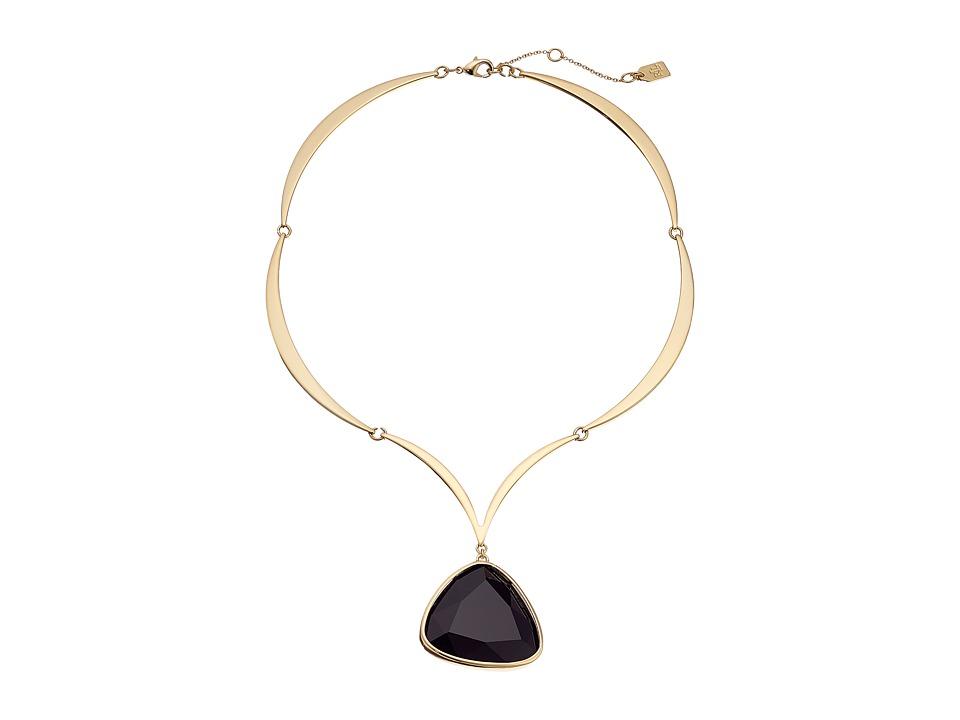 LAUREN Ralph Lauren - Treasure Trove 16 Stone Pendant Necklace (Gold/Black) Necklace