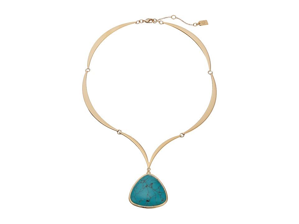 LAUREN Ralph Lauren - Treasure Trove 16 Stone Pendant Necklace (Gold/Turquoise) Necklace
