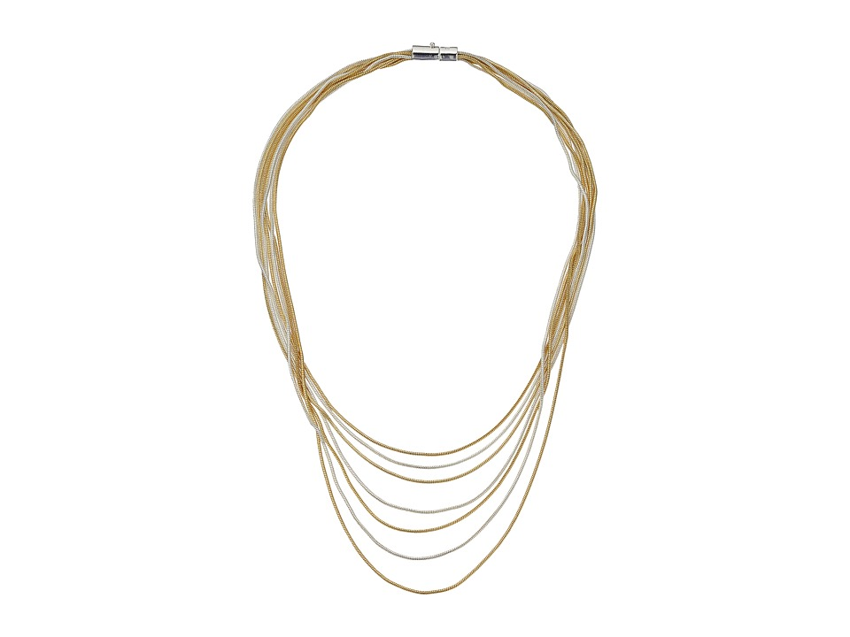 LAUREN Ralph Lauren - Mix Master 18 Multi Row Snake Chain Necklace (Two-Tone) Necklace
