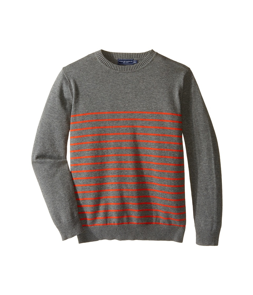 Toobydoo - Harrison Crew Neck Sweater (Toddler/Little Kids/Big Kids) (Gray/Orange) Boy's Sweater