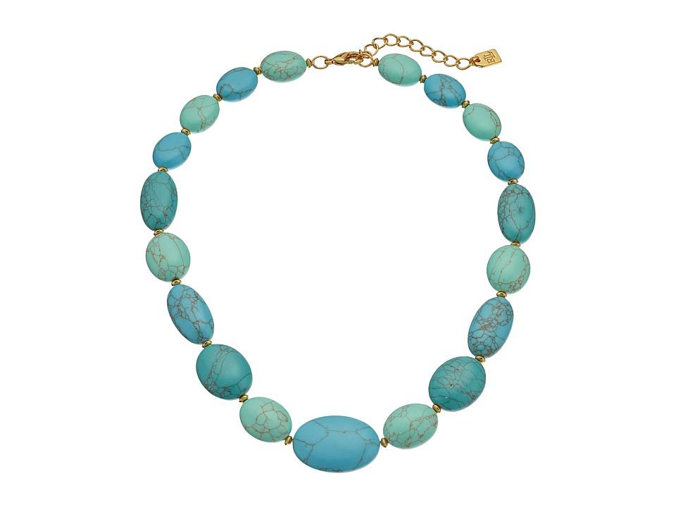 LAUREN Ralph Lauren - Paradise Found 18 Turquoise Nugget Bead Necklace (Turquoise/Gold) Necklace