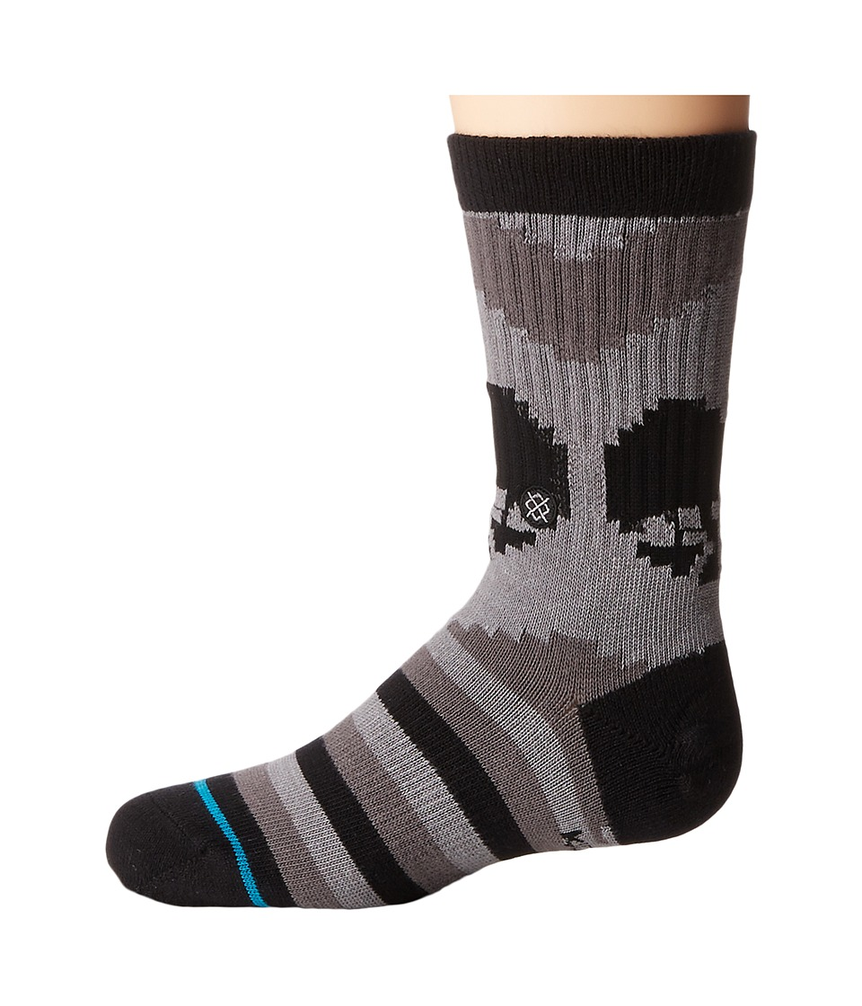 Stance - Till Death (Little Kid/Big Kid) (Black) Men's Crew Cut Socks Shoes
