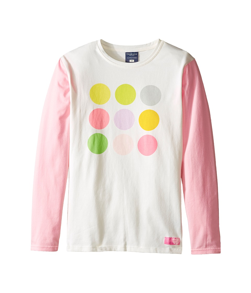 Toobydoo - Olivia Long Sleeve Tee (Toddler/Little Kids/Big Kids) (Pink/White/Dot) Girl's Clothing