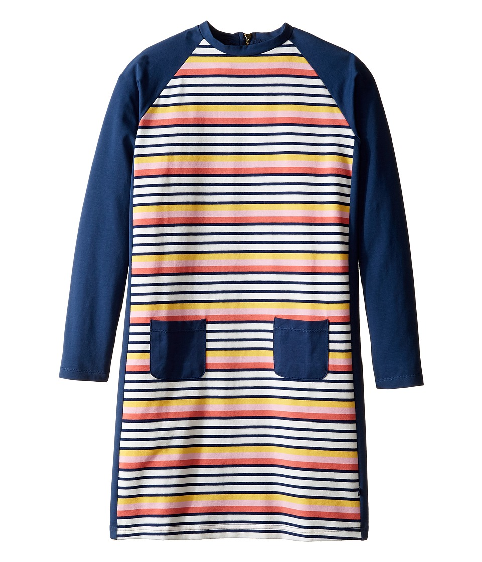 Toobydoo - Rainbow Shift Dress (Toddler/Little Kids/Big Kids) (Navy/Pink/White/Red/Yellow) Girl's Dress