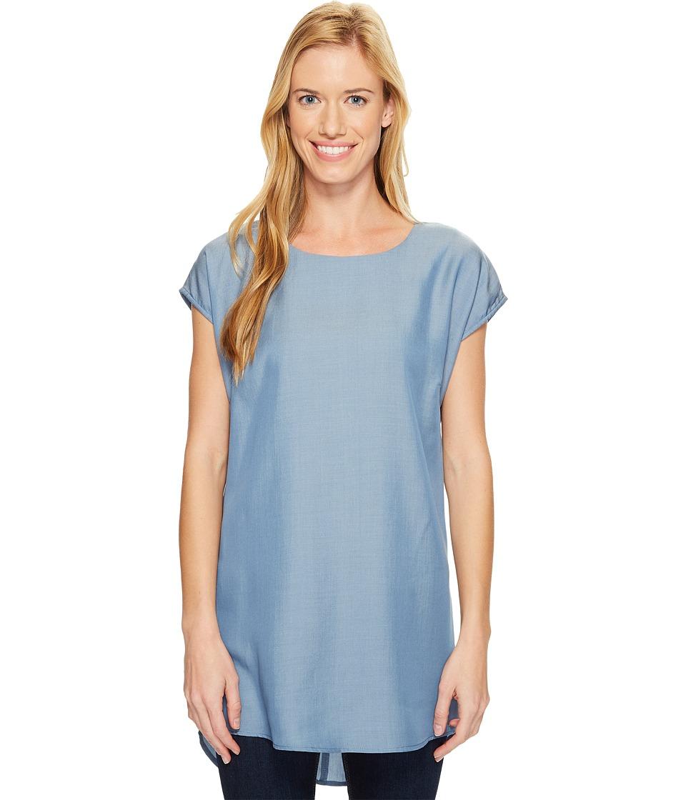 FIG Clothing - Nel Top (Denim Blue) Women's Clothing