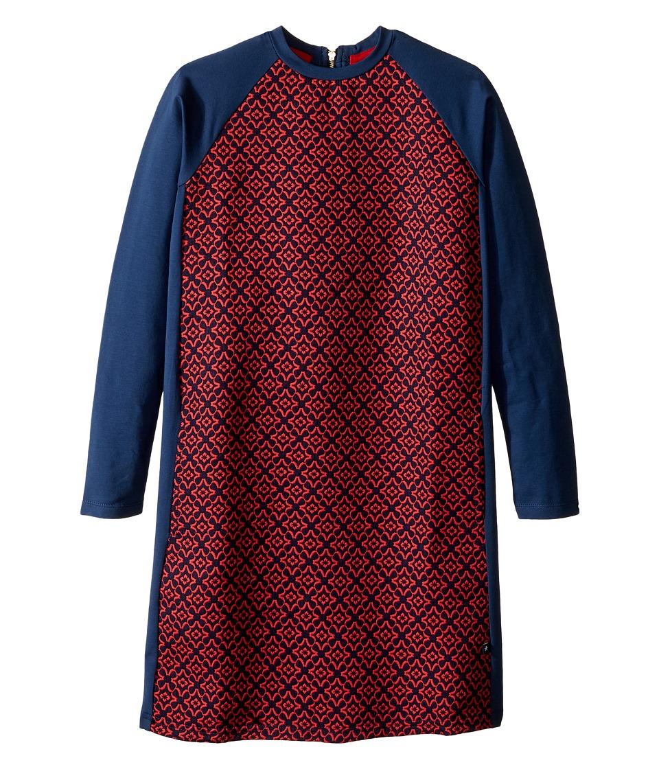 Toobydoo - Kimberly Shift Dress (Toddler/Little Kids/Big Kids) (Navy/Red) Girl's Dress