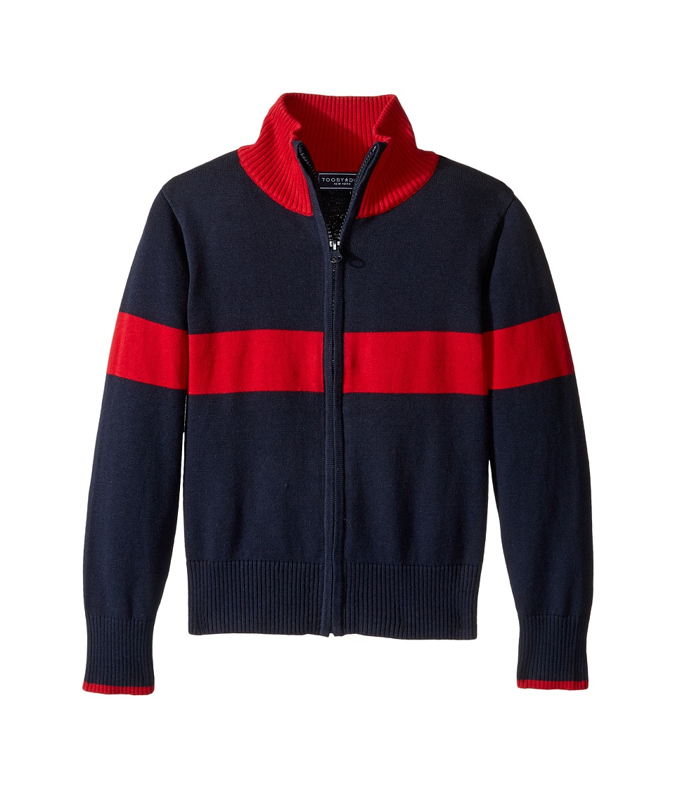 Toobydoo - Avalanche Zip-Up Sweater (Toddler/Little Kids/Big Kids) (Red/Navy) Boy's Sweater