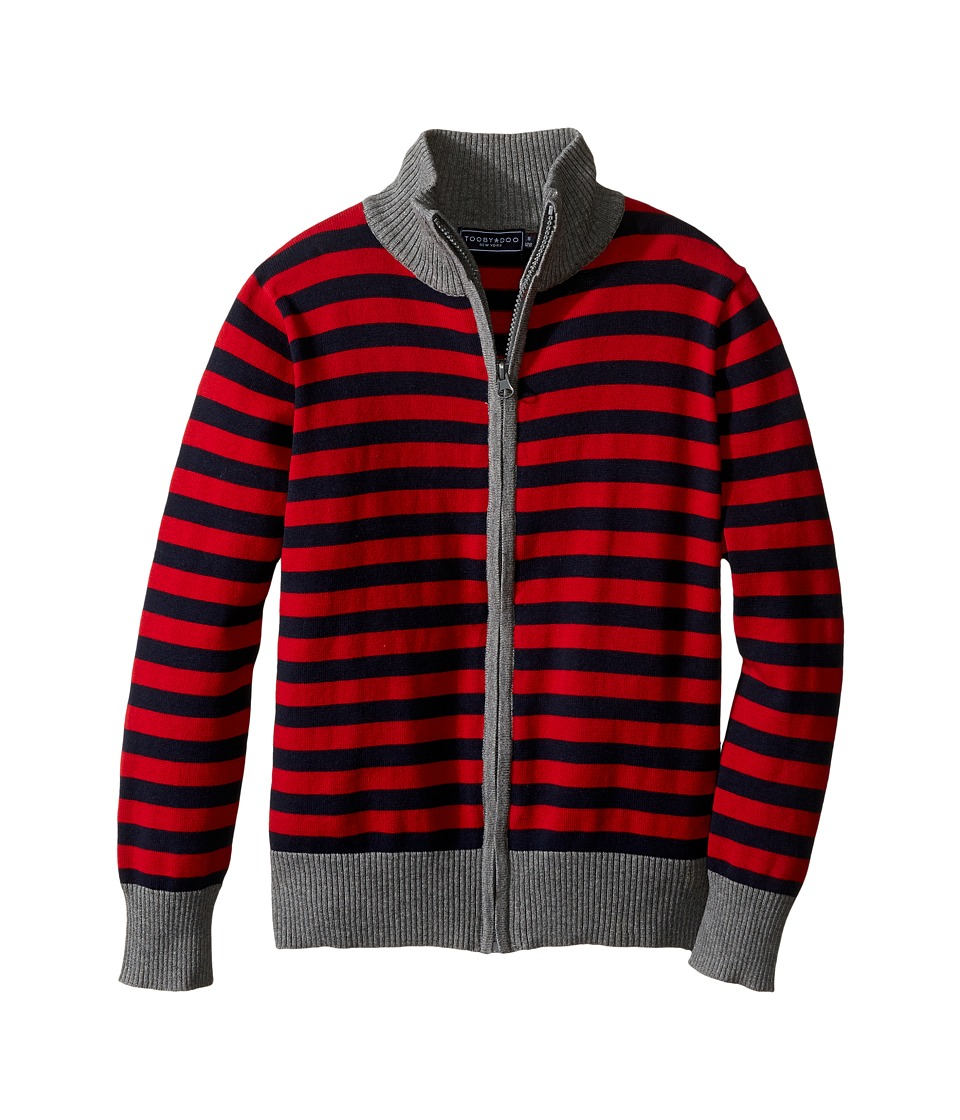 Toobydoo - Boulder Club Zip-Up Sweater (Toddler/Little Kids/Big Kids) (Red/Navy/Gray) Boy's Sweater