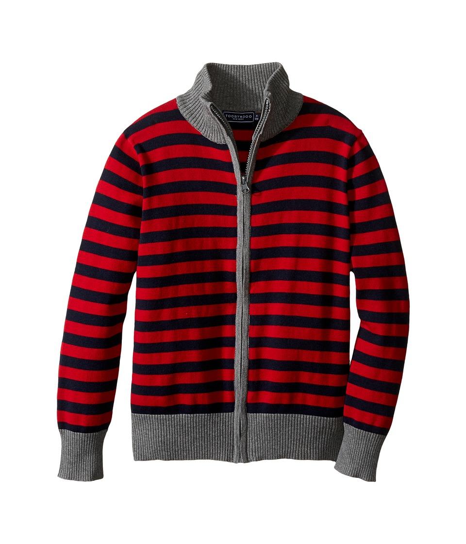 Toobydoo - Boulder Club Zip-Up Sweater (Toddler/Little Kids/Big Kids) (Red/Navy/Gray) Boy's Sweater