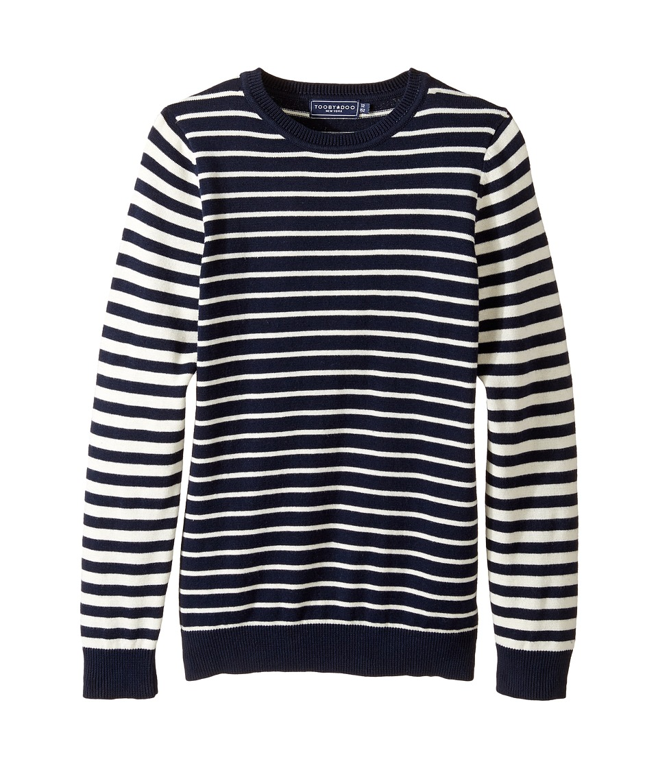 Toobydoo - Paris Stripe Sweater (Toddler/Little Kids/Big Kids) (Navy/White) Girl's Sweater