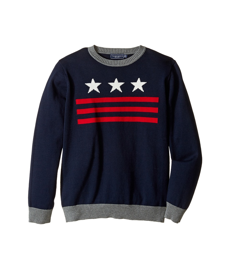 Toobydoo - You're a Star Crew Neck Sweater (Toddler/Little Kids/Big Kids) (Navy/Red/White) Boy's Sweater