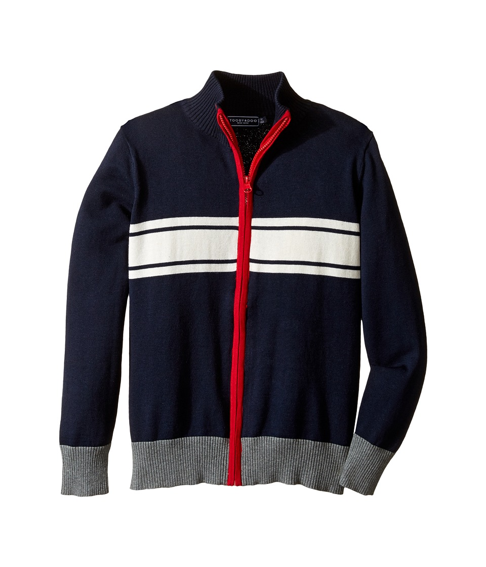 Toobydoo - Into The Arctic Zip-Up Sweater (Toddler/Little Kids/Big Kids) (Navy/Red/White) Boy's Sweater