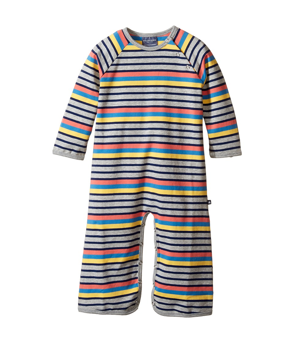 Toobydoo - Matteo Bootcut Jumpsuit (Infant) (Heather Gray/Yellow/Navy/Light Blue/Orange) Boy's Jumpsuit & Rompers One Piece