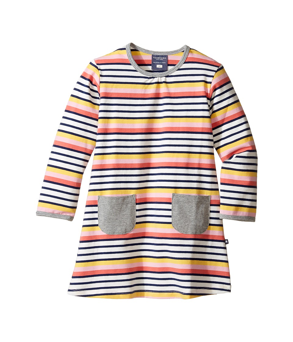 Toobydoo - Penelope Play Dress (Infant/Toddler/Little Kids) (Navy/White/Orange/Pink/Yellow) Girl's Dress
