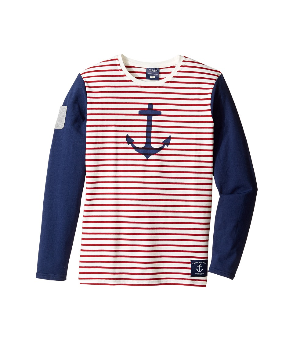 Toobydoo - Anchor's Away Long Sleeve Tee (Toddler/Little Kids/Big Kids) (Navy/White/Red) Girl's Clothing
