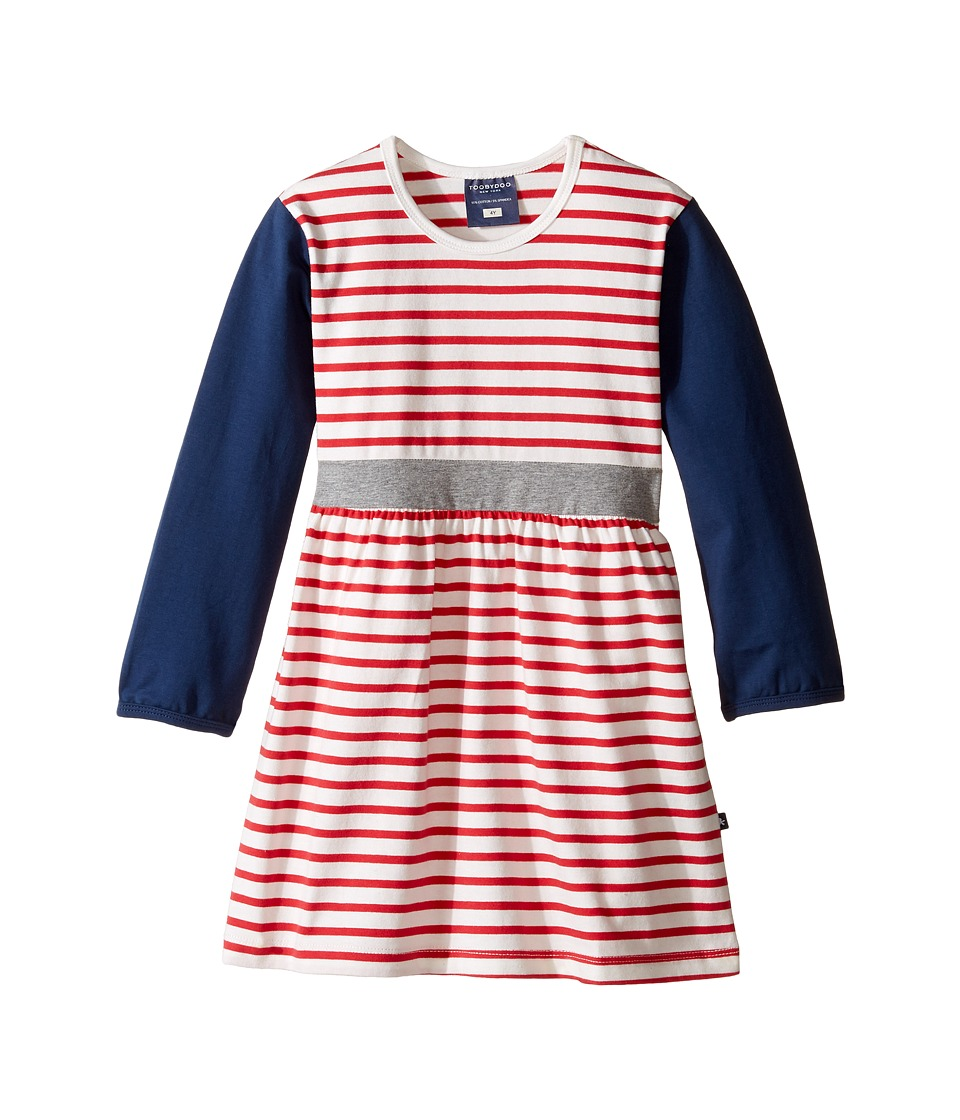 Toobydoo - Sydney Play Dress (Infant/Toddler) (Navy/White/Red) Girl's Dress