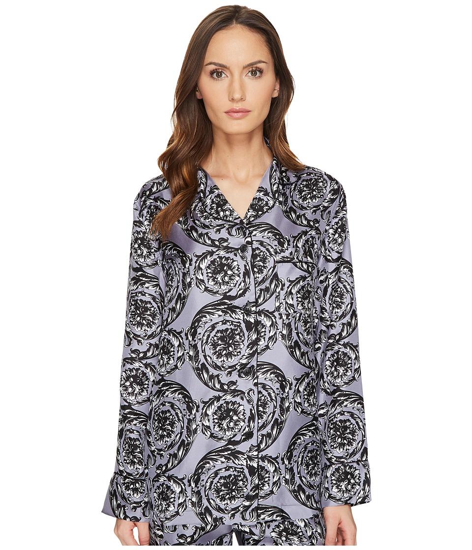 Versace - Pigiama Camicia Pajama Button Up Shirt (Lilac) Women's Pajama