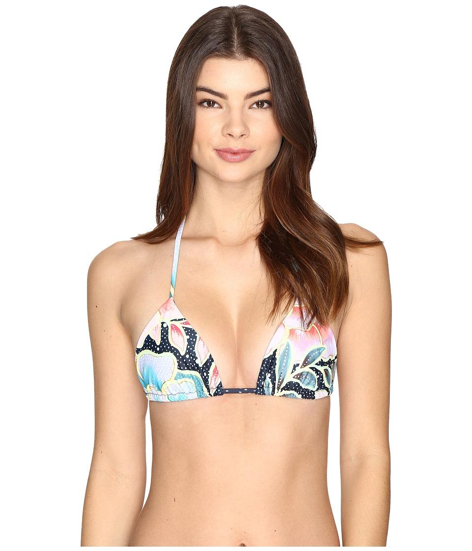Mara Hoffman Arcadia Tie Top Indigo Swimwear