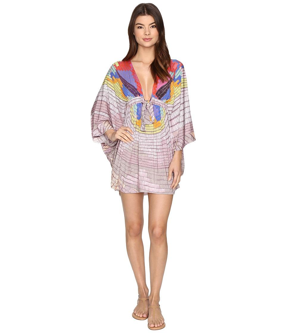 Mara Hoffman - Radial Modal Poncho (Lavender Grey) Women's Swimwear