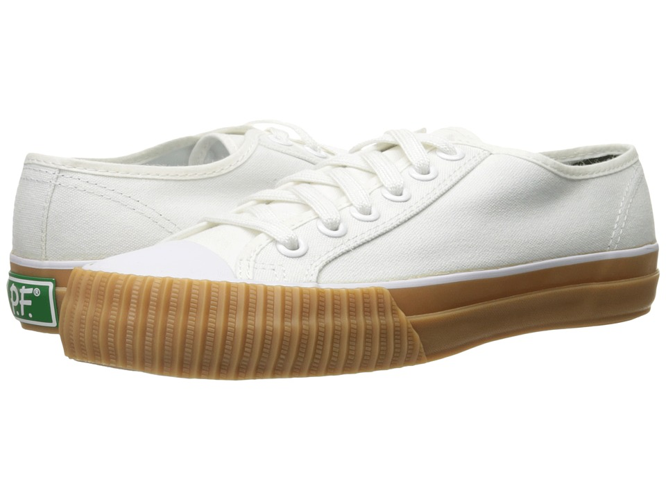 PF Flyers - Center Lo Canvas (White/Gum Sole) Lace up casual Shoes