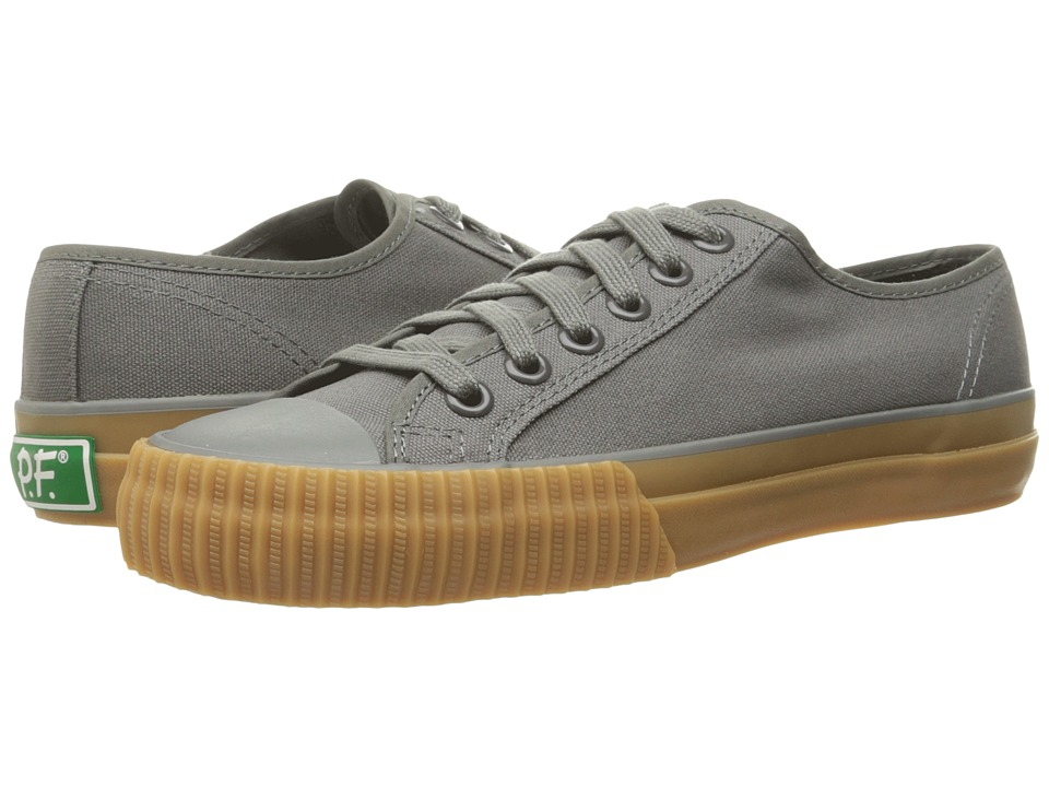 PF Flyers - Center Lo Canvas (Grey/Gum Sole) Lace up casual Shoes