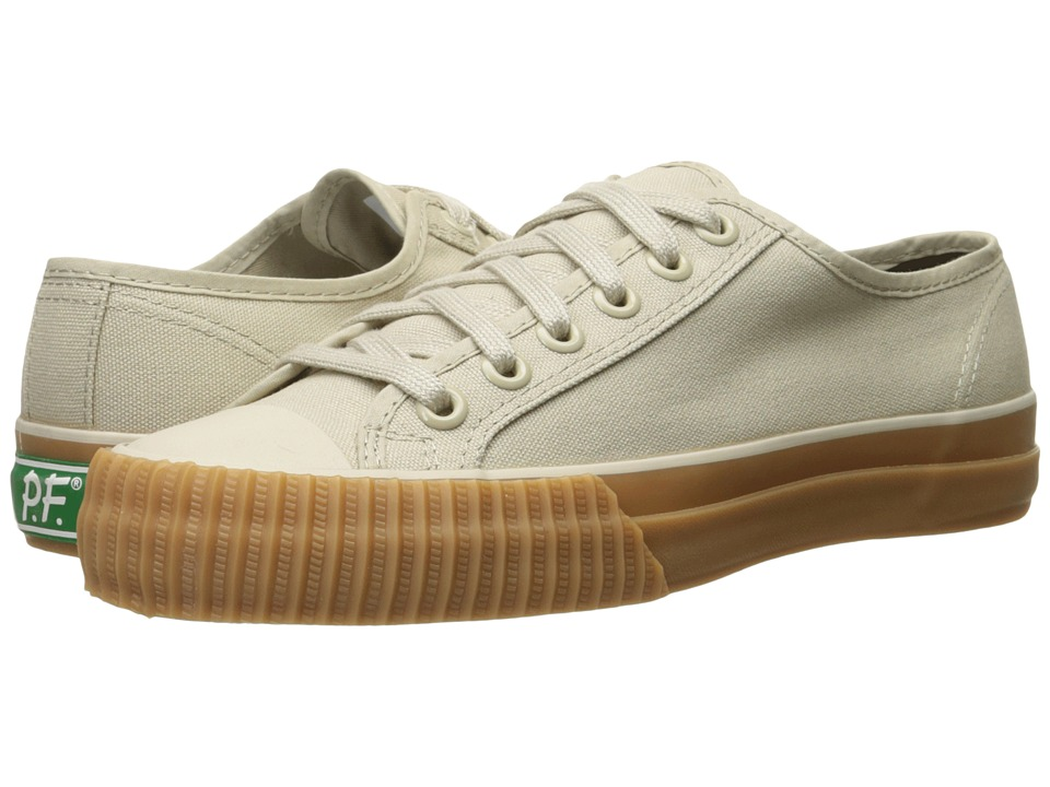 PF Flyers - Center Lo Canvas (Beach Sand/Gum Sole) Lace up casual Shoes
