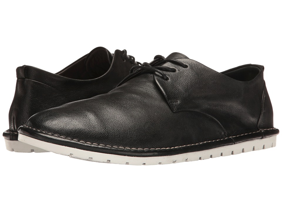 Marsell - Gomma Soft Leather Lace-Up Plain Toe Oxford (Black) Men's Shoes