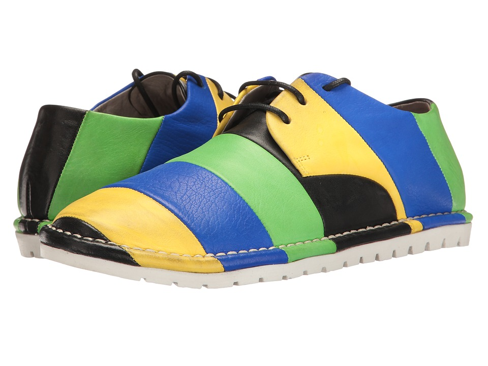 Marsell - Multi Stripe Oxford (Blue/Black/Yellow/Green) Women's Shoes