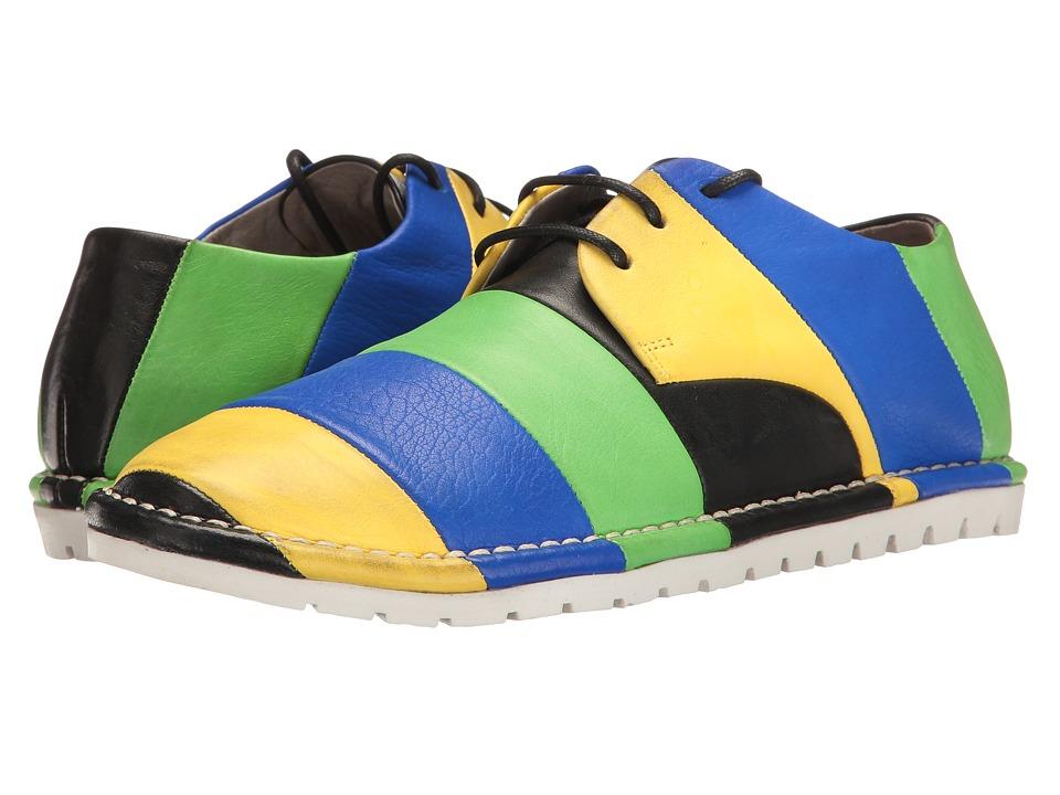 Marsell - Multi Stripe Oxford (Blue/Black/Yellow/Green) Women's Shoes