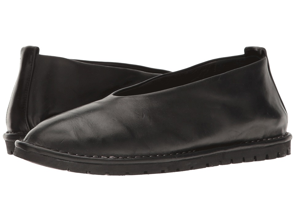 Marsell - Soft Leather Ballerina (Black) Women's Shoes