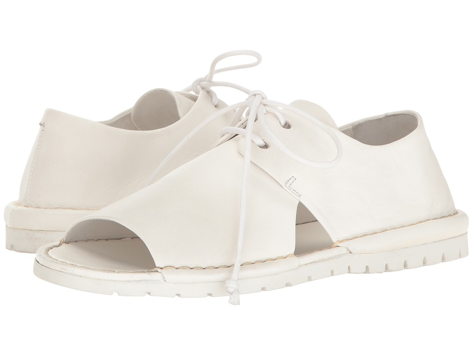 Marsell - Open Toe Oxford (White) Women's Shoes