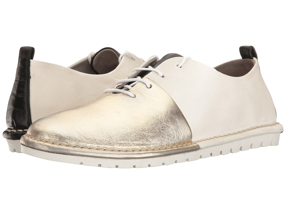 Marsell - Split Two-Tone Oxford (White/Gold) Women's Shoes