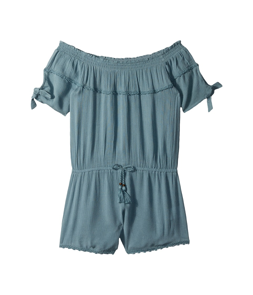 O'Neill Kids - Sayulita Woven Short Romper (Big Kids) (Smoke Blue) Girl's Jumpsuit & Rompers One Piece
