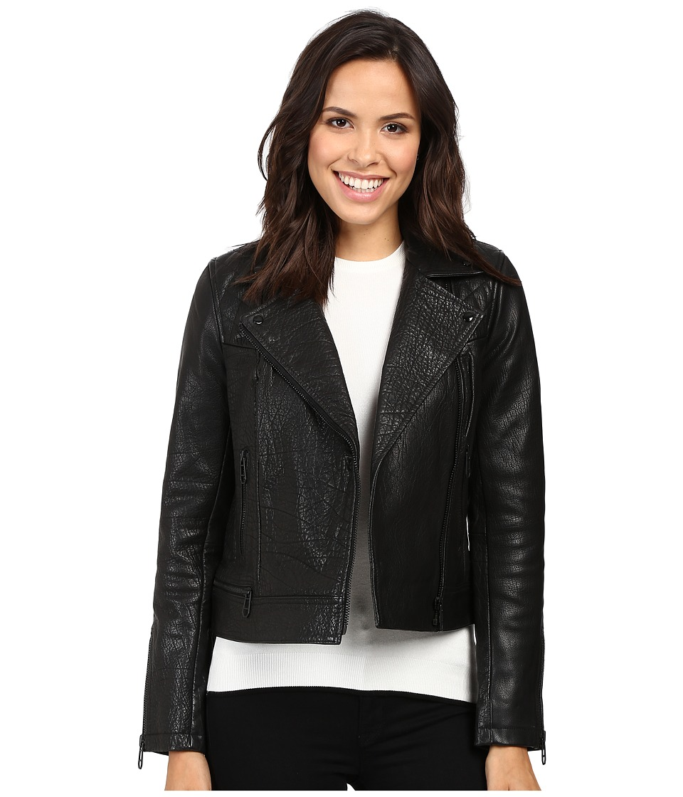 Liebeskind - Biker Leather Jacket (Ninja Black) Women's Coat