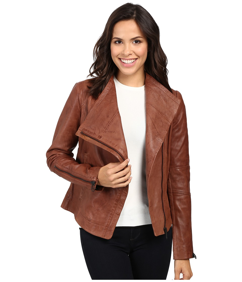 Liebeskind - Leather Jacket (Bittersweet Brown) Women's Coat