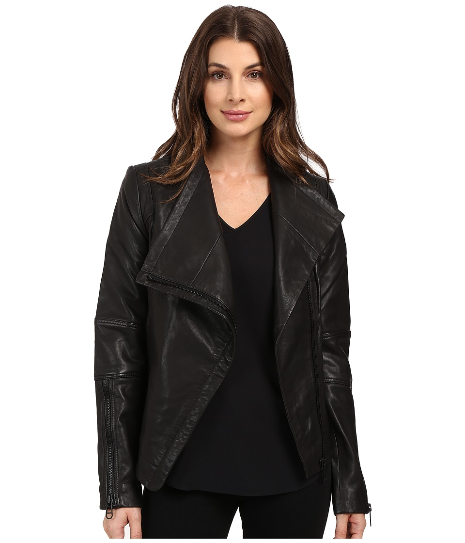 Liebeskind - Leather Jacket (Ninja Black) Women's Coat
