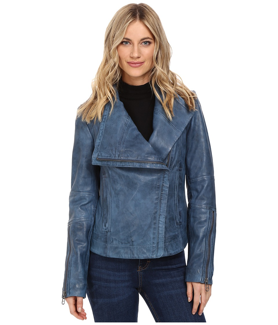 Liebeskind - Leather Jacket (Indigo Blue) Women's Coat