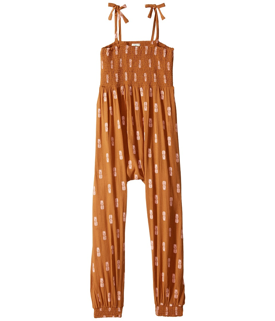 O'Neill Kids - Venus Woven Romper (Toddler/Little Kids) (Caramel) Girl's Jumpsuit & Rompers One Piece