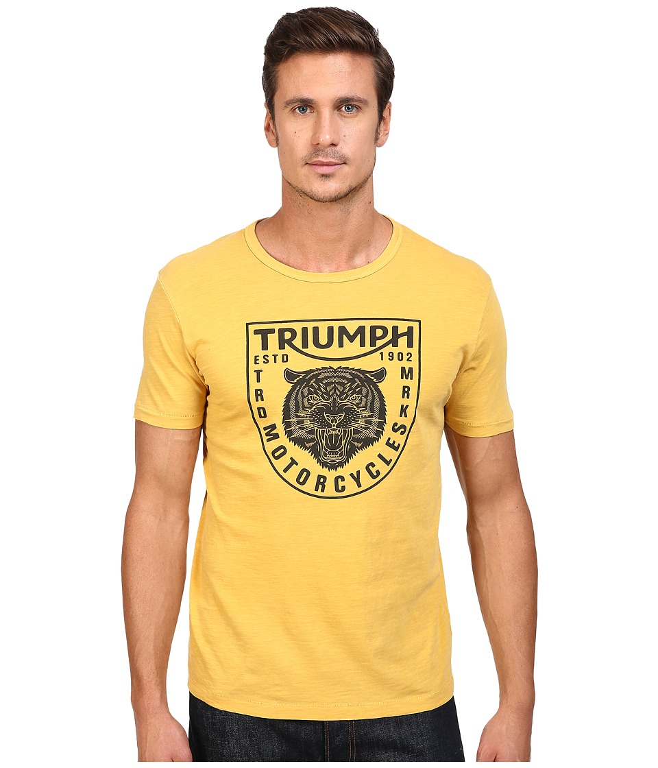 Lucky Brand - Triumph Tiger Head Graphic Tee (Golden Spice) Men's T Shirt