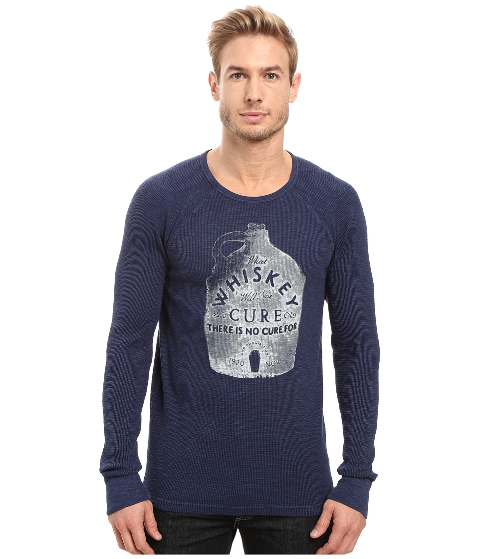 Lucky Brand - Whiskey Cure Graphic Tee (American Navy) Men's T Shirt