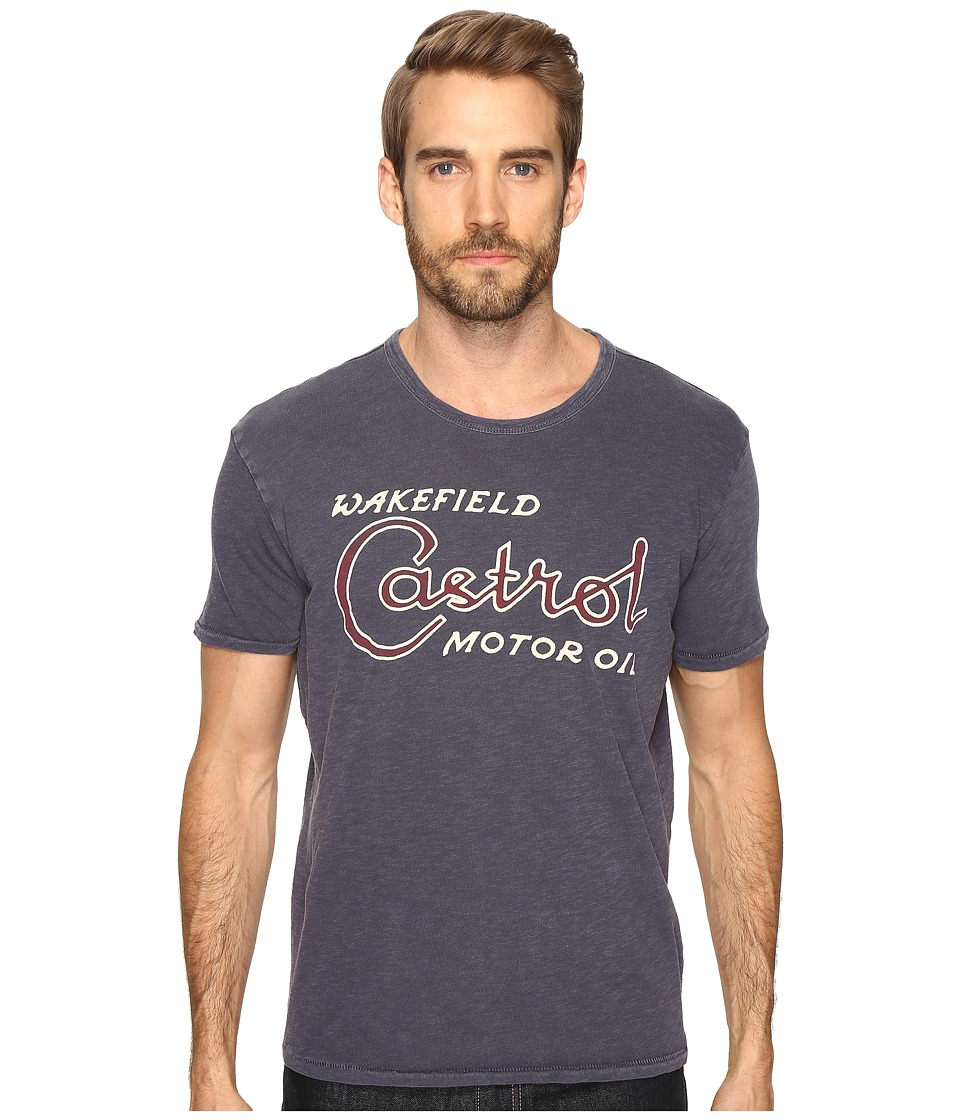 Lucky Brand Castrol Graphic Tee (American Navy) Men