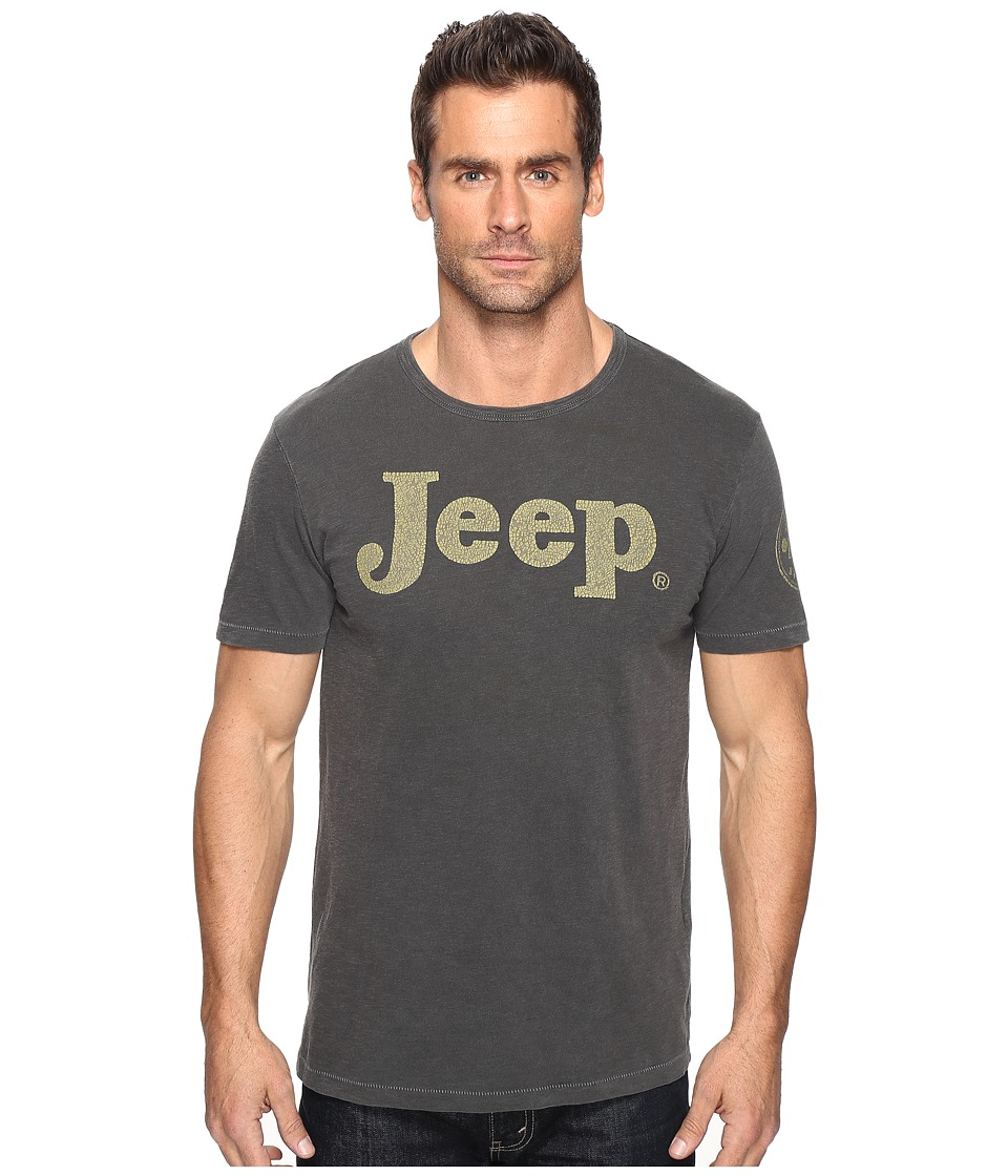 Lucky Brand 1955 Jeep Graphic Tee (Black Mountain) Men