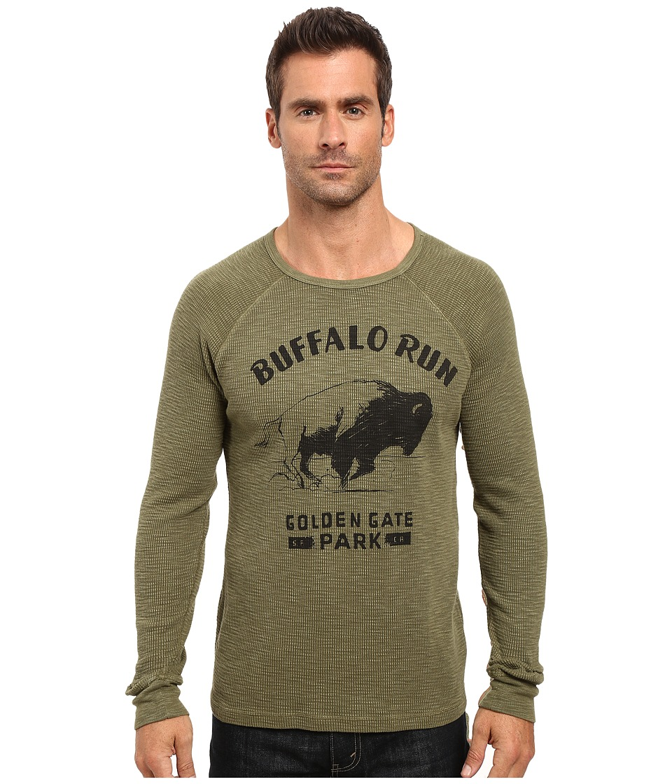 Lucky Brand Buffalo Run Graphic Tee (Burnt Olive) Men